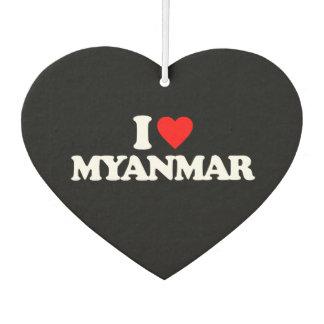 I LOVE MYANMAR CAR AIR FRESHENER