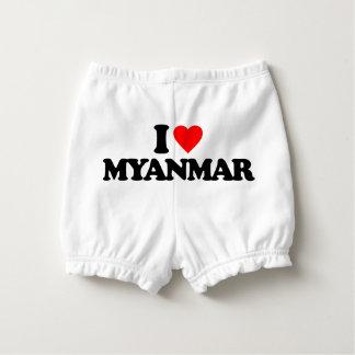 I LOVE MYANMAR DIAPER COVER