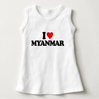 I LOVE MYANMAR DRESS