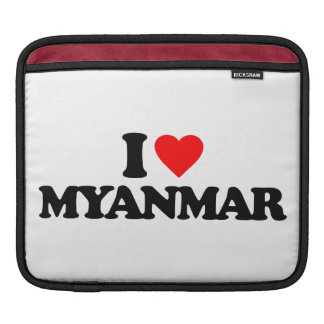 I LOVE MYANMAR iPad SLEEVES