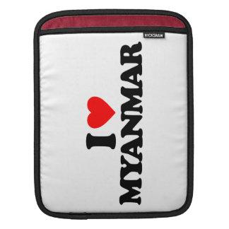 I LOVE MYANMAR SLEEVES FOR iPads