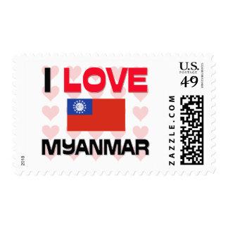 I Love Myanmar Postage