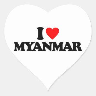 I LOVE MYANMAR HEART STICKER