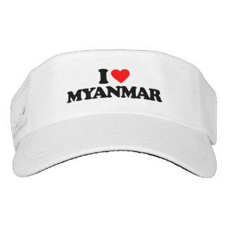 I LOVE MYANMAR VISOR