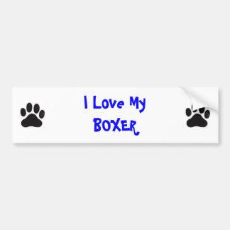 I Love MyBOXER Bumper Sticker