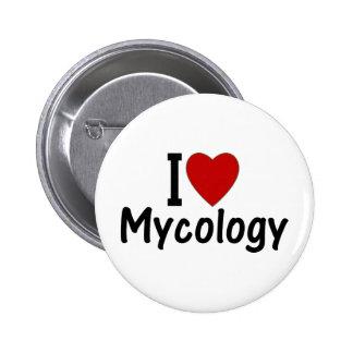 I Love Mycology Pinback Button