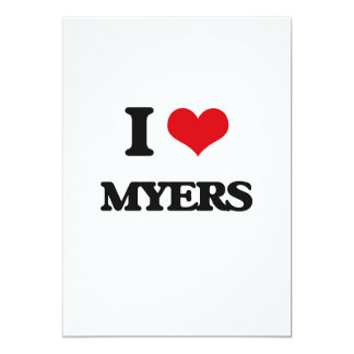 I Love Myers 5x7 Paper Invitation Card
