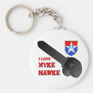I Love Myke Hawke Keychain