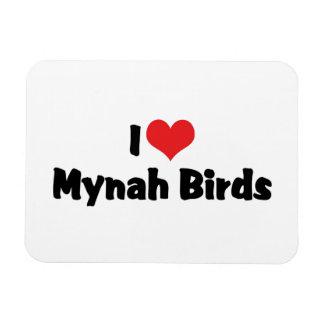 I Love Mynah Birds Flexible Magnets
