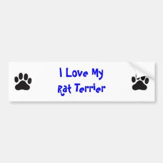 I Love MyRat Terrier Bumper Sticker