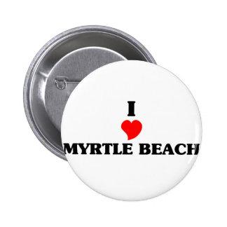 I love Myrtle Beach 2 Inch Round Button