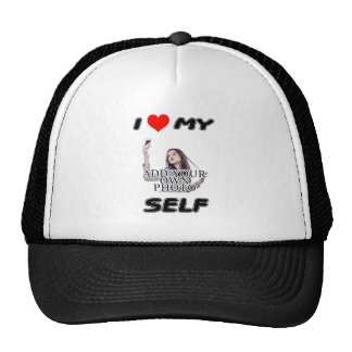 I LOVE MYSELF - ADD YOUR OWN PHOTO VANITY CAP HAT