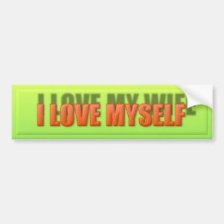 I Love Myself Bumper Sticker