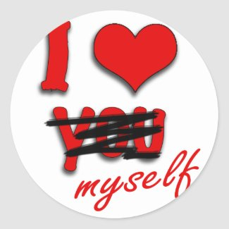 I love Myself Classic Round Sticker