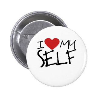 I Love myself Pinback Buttons