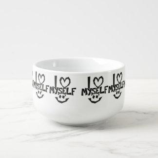 I love myself Smiley Soup Mug