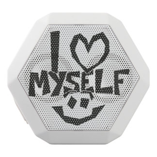 I love myself Smiley White Bluetooth Speaker