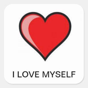 I Love Myself Stickers Zazzle
