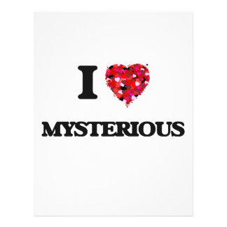 "I Love Mysterious 8.5"" X 11"" Flyer"