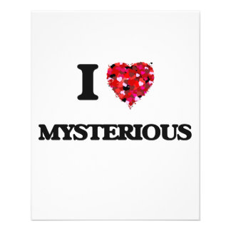 "I Love Mysterious 4.5"" X 5.6"" Flyer"