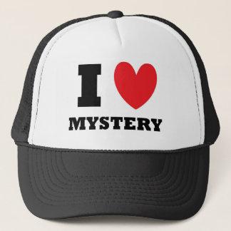 I Love Mystery Trucker Hat