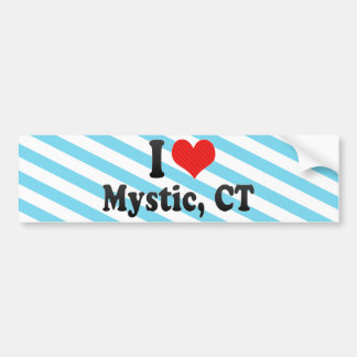 I Love Mystic, CT Bumper Sticker