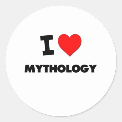 I Love Mythology Sticker