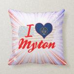 I Love Myton, Utah Pillow