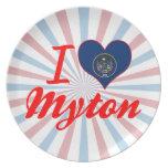 I Love Myton, Utah Plate