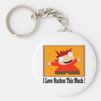 I Love Nachos T-Shirt Keychains