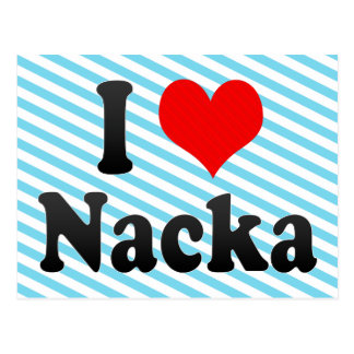 I Love Nacka, Sweden. Jag Alskar Nacka, Sweden Postcard