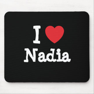 I love Nadia heart T-Shirt Mouse Pad