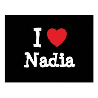 I love Nadia heart T-Shirt Postcard