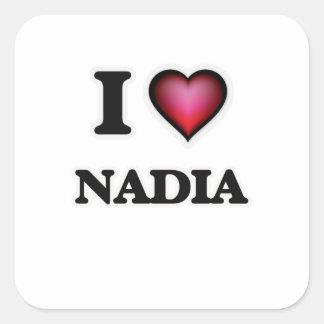 I Love Nadia Square Sticker