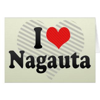 I Love Nagauta Greeting Card