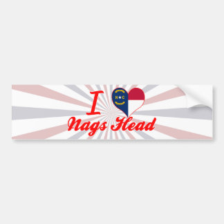 I Love Nags Head, North Carolina Car Bumper Sticker