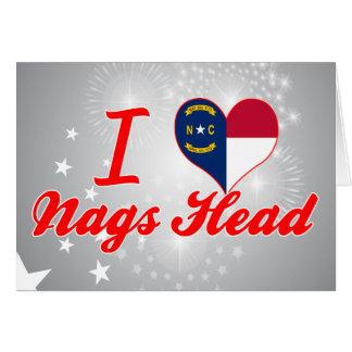 I Love Nags Head, North Carolina Greeting Card