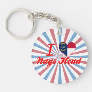 I Love Nags Head, North Carolina Single-Sided Round Acrylic Keychain