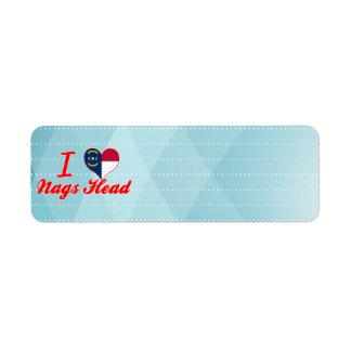 I Love Nags Head, North Carolina Return Address Label