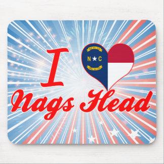 I Love Nags Head, North Carolina Mouse Pad