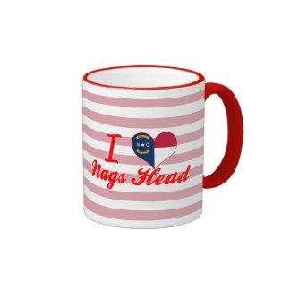 I Love Nags Head, North Carolina Ringer Coffee Mug