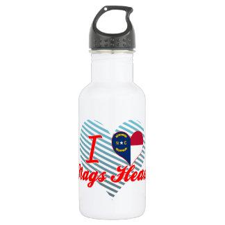I Love Nags Head, North Carolina 18oz Water Bottle