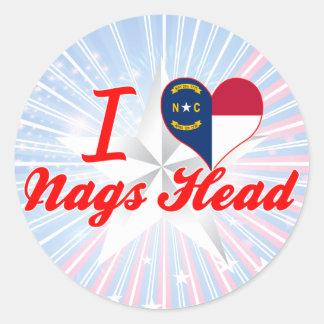 I Love Nags Head, North Carolina Classic Round Sticker
