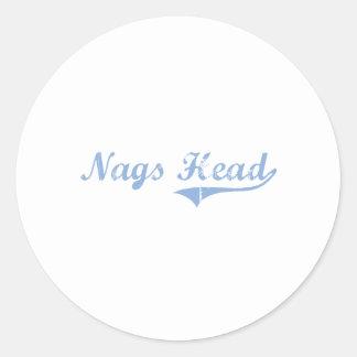 I Love Nags Head North Carolina Classic Round Sticker