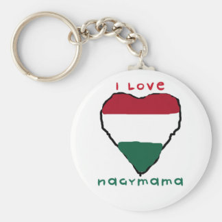 I Love Nagymama Keychain