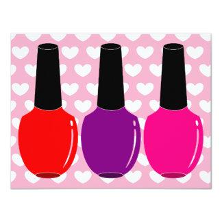 I Love Nail Polish Red Pink Purple Nail Polish Art Card