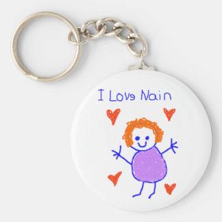 I Love Nain Keychain