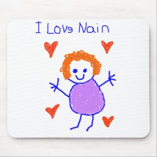 I Love Nain Mouse Pad