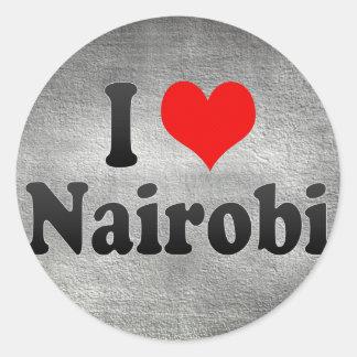 I Love Nairobi, Kenya Stickers