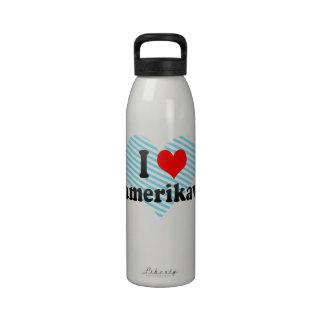 I Love Namerikawa, Japan Water Bottles